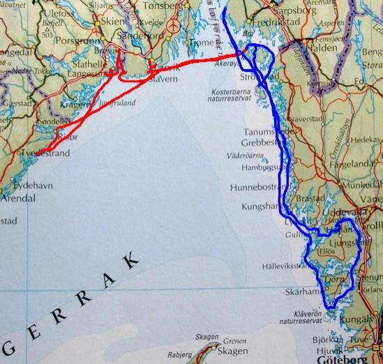 svenskekysten kart Sommertur med